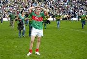 17 September 2006; Mayo corner-back Keith Higgins at the end of the game. Bank of Ireland All-Ireland Senior Football Championship Final, Kerry v Mayo, Croke Park, Dublin. Picture credit: Ray McManus / SPORTSFILE
