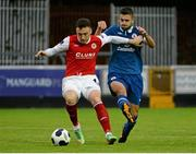 1 August 2014; Mark Quigley, St Patrick's Athletic, in action against Seamus Conneely, Sligo Rovers. SSE Airtricity League Premier Division, St Patrick's Athletic v Sligo Rovers, Richmond Park, Dublin. Picture credit: Piaras Ó Mídheach / SPORTSFILE