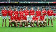 22 August 1999; The Cork team prior to the All-Ireland Minor Football Championship Semi-Final match between Cork and Mayo at Croke Park in Dublin. Photo by Ray McManus/Sportsfile
