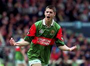 22 August 1999; Eoin Gallagher of Mayo celebrates his side's goal during the All-Ireland Minor Football Championship Semi-Final match between Cork and Mayo at Croke Park in Dublin. Photo by Matt Browne/Sportsfile
