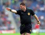 22 August 1999; Referee Michael Convery during the All-Ireland Minor Football Championship Semi-Final match between Cork and Mayo at Croke Park in Dublin. Photo by Aoife Rice/Sportsfile