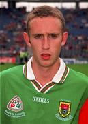 22 August 1999; Mayo captain Paraic Kelly prior to the All-Ireland Minor Football Championship Semi-Final match between Cork and Mayo at Croke Park in Dublin. Photo by Matt Browne/Sportsfile