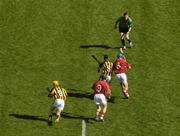 3 September 2006; Referee Barry Kelly throws on the sliotar between Derek Lyng, 8, Kilkenny, and Tom Kenny, 8, Cork to start the game. Also in picture are Kilkenny's James Cha' Fitzpatrick and Cork's Jerry O'Connor. Guinness All-Ireland Senior Hurling Championship Final, Cork v Kilkenny, Croke Park, Dublin. Picture credit: Brendan Moran / SPORTSFILE