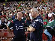 17 September 2006; Mickey Moran and John Morrison, left, Mayo, before the game. Bank of Ireland All-Ireland Senior Football Championship Final, Kerry v Mayo, Croke Park, Dublin. Picture credit: Ray McManus / SPORTSFILE