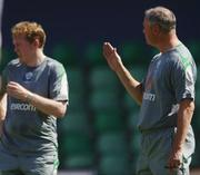 5 October 2006; Republic of Ireland senior team coach Kevin MacDonald, right, with manager Steve Staunton during squad training. Tsirion Stadium, Limassol, Cyprus. Picture credit: David Maher / SPORTSFILE