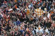 1 October 2006; Armagh fans cheer on their side. TG4 Ladies All-Ireland Senior Football Championship Final, Cork v Armagh, Croke Park, Dublin. Picture credit: Brendan Moran / SPORTSFILE