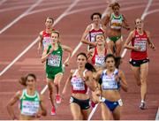 12 August 2014; Ireland's Fionnuala Britton approaches the finish line to finish in 8th place during the final of the women's 10,000m event, with a time of 32:32.45. European Athletics Championships 2014 - Day 1. Letzigrund Stadium, Zurich, Switzerland. Picture credit: Stephen McCarthy / SPORTSFILE
