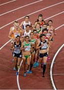 12 August 2014; Ireland's Fionnuala Britton, mid-pack, during the final of the women's 10,000m event. Britton finished in 8th place with a time of 32:32.45. European Athletics Championships 2014 - Day 1. Letzigrund Stadium, Zurich, Switzerland. Picture credit: Stephen McCarthy / SPORTSFILE