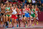 12 August 2014; Ireland's Fionnuala Britton, second from right, during the final of the women's 10,000m event. Britton finished in 8th place with a time of 32:32.45. European Athletics Championships 2014 - Day 1. Letzigrund Stadium, Zurich, Switzerland. Picture credit: Stephen McCarthy / SPORTSFILE