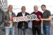 14 August 2014; This weekend Newstalk kicks off its 11th season of live Barclays Premier League Commentary with the Champions Manchester City's trip to Newcastle United on Sunday 17th of August at 4pm. Football stars John Hartson and Owen Coyle were in Marconi House to help launch the season, ahead of their live Off the Ball appearance in Galway this evening. Newstalk's team of analysts continues to strenghten with former Ireland internationals Keith Andrews, Kevin Kilbane, Steven Reid, Kenny Cunningham, Ray Houghton, Stephen Hunt, Owen Coyle, and John Anderson anchoring the coverage alongside Off the Ball's commentators Dave McIntyre and Nathan Murphy. Pictured at the launch are, from left, Kenny Cunningham, Owen Coyle, John Hartson and Kevin Kilbane. Marconi House, Dublin. Picture credit: Pat Murphy / SPORTSFILE