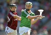 17 August 2014; Conor Fitzgerald, Limerick, in action against Seán Loftus, Galway. Electric Ireland GAA Hurling All Ireland Minor Championship Semi-Final, Galway v Limerick. Croke Park, Dublin. Picture credit: Brendan Moran / SPORTSFILE