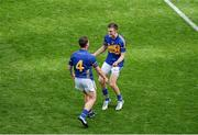 17 August 2014; Tipperary players, Paddy Stapleton, left, and Shane McGrath, celebrate after the game. GAA Hurling All-Ireland Senior Championship Semi-Final, Cork v Tipperary. Croke Park, Dublin. Picture credit: Dáire Brennan / SPORTSFILE