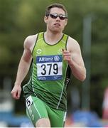 19 August 2014; Team Ireland's Jason Smyth, from Eglinton, Co. Derry, in action during his semi-final of the  men's 100m - T12, where he qualified for the final with a time of 11.40. 2014 IPC Athletics European Championships, Swansea University, Swansea, Wales. Picture credit: Luc Percival / SPORTSFILE