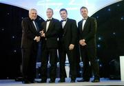 10 November 2006; James 'Cha' Fitzpatrick, Kilkenny, receives his award from An Taoiseach Bertie Ahern, TD, in the company of Dessie Farrell, Chief Executive, GPA and Dave Sheerin, Opel Ireland, at the 2006 Opel GPA Player of the Year Awards. Gaelic Player Assoication Awards, Citywest Hotel, Dublin. Picture credit: Brendan Moran / SPORTSFILE
