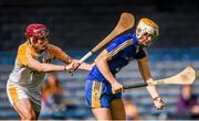 23 August 2014; Aaron Cunningham, Clare, in action against Paddy Burke, Antrim. Bord Gáis Energy GAA Hurling Under 21 All-Ireland Championship, Semi-Final, Clare v Antrim, Semple Stadium, Thurles, Co. Tipperary. Picture credit: Stephen McCarthy / SPORTSFILE