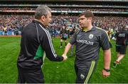24 August 2014; Mayo manager James Horan and Kerry manager Eamonn Fitzmaurice after the game. GAA Football All-Ireland Senior Championship, Semi-Final, Kerry v Mayo, Croke Park, Dublin. Picture credit: Stephen McCarthy / SPORTSFILE