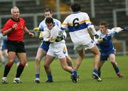 19 November 2006; David Harte, Errigal Chiarain, in action against Enda Muldoon, Ballinderry. AIB Ulster Senior Football Championship Semi-Final, Errigal Chiarain v Ballinderry, Casement  Park, Belfast. Picture credit: Oliver McVeigh / SPORTSFILE
