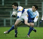 19 November 2006; Ronan McRory, Errigal Chiarain, in action against Kevin McGuckin, Ballinderry. AIB Ulster Senior Football Championship Semi-Final, Errigal Chiarain v Ballinderry, Casement  Park, Belfast. Picture credit: Oliver McVeigh / SPORTSFILE