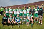 24 August 2014; Competitors in the senior competition, back row from left, Alan Nolan, Dublin, Patrick McKillion, Tyrone, Patrick Kelly, Clare, Nigel Daly, Galway, Andrew Fahey, Clare, Donal O'Brien, Mayo, Stevie Brenner, Waterford, Uachtarán Chumann Lúthchleas Gael Liam Ó Néill , Brendan Cummins, Tipperary, Martin Donnelly, Poc Fada sponsor. Front row, Humphrey Kelleher, Chairman of the National Poc Fada Committee, Kevin Walsh, Kilkenny, Eoin Reilly, Laois, Ruairí Convery, Derry. M. Donnelly All-Ireland Poc Fada Final. Annaverna Mountain, Ravensdale, Cooley, Co. Louth. Picture credit: Piaras Ó Mídheach / SPORTSFILE