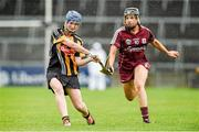 24 August 2014; Ann Dalton, Kilkenny, in action against Rebecca Hennelly, Galway. Liberty Insurance All-Ireland Senior Camogie Championship Semi-Final, Galway v Kilkenny. Gaelic Grounds, Limerick. Picture credit: Diarmuid Greene / SPORTSFILE