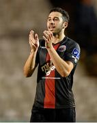 25 August 2014; Roberto Lopes, Bohemians, celebrates at the end of the game. FAI Ford Cup, 3rd Round Reply, Cork City v Bohemians. Dalymount Park, Dublin. Picture credit: David Maher / SPORTSFILE