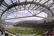 1 September 2012; A general view of the Aviva Stadium ahead the game. NCAA Emerald Isle Classic, Notre Dame v Navy, Aviva Stadium, Lansdowne Road, Dublin. Picture credit: Stephen McCarthy / SPORTSFILE