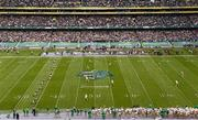 1 September 2012; Navy kick off the game to Notre Dame. NCAA Emerald Isle Classic, Notre Dame v Navy, Aviva Stadium, Lansdowne Road, Dublin. Picture credit: Stephen McCarthy / SPORTSFILE