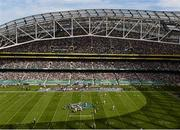 1 September 2012; A general view of the Aviva Stadium during the game. NCAA Emerald Isle Classic, Notre Dame v Navy, Aviva Stadium, Lansdowne Road, Dublin. Picture credit: Stephen McCarthy / SPORTSFILE