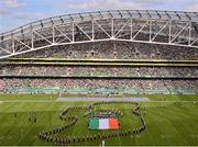 1 September 2012; The University of Notre Dame marching band preform during the half-time break. NCAA Emerald Isle Classic, Notre Dame v Navy, Aviva Stadium, Lansdowne Road, Dublin. Picture credit: Stephen McCarthy / SPORTSFILE