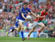 24 August 2014; Mark O'Connor, Kerry, in action against Eoin O'Donoghue, Mayo. Electric Ireland GAA Football All Ireland Minor Championship, Semi-Final, Kerry v Mayo, Croke Park, Dublin. Picture credit: Brendan Moran / SPORTSFILE