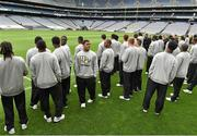 29 August 2014; The UCF players view Croke Park during the previews ahead of the Croke Park Classic, Penn State v University of Central Florida on Saturday. Croke Park, Dublin. Picture credit: Pat Murphy / SPORTSFILE
