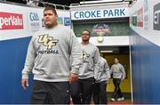 29 August 2014; The UCF players make their way out to the pitch in Croke Park during the previews ahead of the Croke Park Classic, Penn State v University of Central Florida on Saturday. Croke Park, Dublin. Picture credit: Pat Murphy / SPORTSFILE