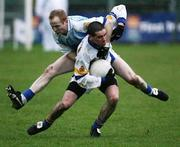 19 November 2006; Damien Neill, Errigal Chiarain, in action against Sean Donnelly, Ballinderry. AIB Ulster Senior Football Championship Semi-Final, Errigal Chiarain v Ballinderry, Casement  Park, Belfast. Picture credit: Oliver McVeigh / SPORTSFILE