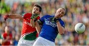30 August 2014; Kieran Donaghy, Kerry, in action against Ger Cafferkey, Mayo. GAA Football All Ireland Senior Championship, Semi-Final Replay, Kerry v Mayo. Gaelic Grounds, Limerick. Picture credit: Stephen McCarthy / SPORTSFILE