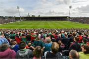 30 August 2014; A general view of the Gaelic Grounds during the national anthem. GAA Football All Ireland Senior Championship, Semi-Final Replay, Kerry v Mayo. Gaelic Grounds, Limerick. Picture credit: Diarmuid Greene / SPORTSFILE