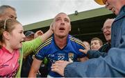 30 August 2014; Kieran Donaghy, Kerry, is congradulated by supporters after the game. GAA Football All Ireland Senior Championship, Semi-Final Replay, Kerry v Mayo, Gaelic Grounds, Limerick. Picture credit: Barry Cregg / SPORTSFILE