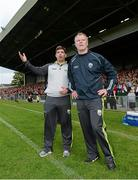 30 August 2014; Kerry manager Eamonn Fitzmaurice and selector Diarmuid Murphy during the closing stages of the game. GAA Football All Ireland Senior Championship, Semi-Final Replay, Kerry v Mayo, Gaelic Grounds, Limerick.