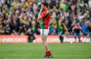 30 August 2014; A dejected Chris Barrett, Mayo, after the final whistle is blown. GAA Football All Ireland Senior Championship, Semi-Final Replay, Kerry v Mayo, Gaelic Grounds, Limerick. Picture credit: Barry Cregg / SPORTSFILE
