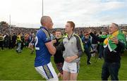 30 August 2014; Kerry's Kieran Donaghy and Colm Cooper celebrate after the game. GAA Football All Ireland Senior Championship, Semi-Final Replay, Kerry v Mayo, Gaelic Grounds, Limerick. Picture credit: Stephen McCarthy / SPORTSFILE