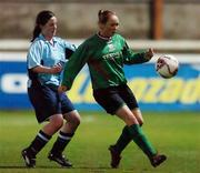 2 December 2006; Triona McNicholas, Mayo League, in action against Sandra Mulhall, UCD. Women's FAI Senior Cup Final, UCD v Mayo League, Richmond Park, Dublin. Picture credit: Damien Eagers / SPORTSFILE