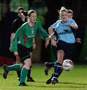 2 December 2006; Karina Kelly, UCD, in action against Aine McLean, Mayo League. Women's FAI Senior Cup Final, UCD v Mayo League, Richmond Park, Dublin. Picture credit: Damien Eagers / SPORTSFILE