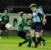 2 December 2006; Sylia Gee, UCD, in action against Marta Carter, Mayo League. Women's FAI Senior Cup Final, UCD v Mayo League, Richmond Park, Dublin. Picture credit: Damien Eagers / SPORTSFILE