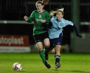 2 December 2006; Rachel Jenkins, UCD, in action against Aine McLean, Mayo League. Women's FAI Senior Cup Final, UCD v Mayo League, Richmond Park, Dublin. Picture credit: Damien Eagers / SPORTSFILE