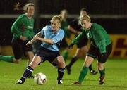 2 December 2006; Karina Kelly, UCD, in action against Emma Mullin, Mayo League. Women's FAI Senior Cup Final, UCD v Mayo League, Richmond Park, Dublin. Picture credit: Damien Eagers / SPORTSFILE