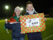 2 December 2006; Rebecca Mills and Ryan Gallagher, from Belmullet, show their support before the match. Women's FAI Senior Cup Final, UCD v Mayo League, Richmond Park, Dublin. Picture credit: Damien Eagers / SPORTSFILE