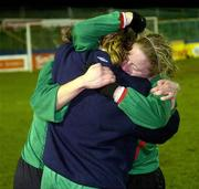 2 December 2006; Emma Mullin, Mayo League, celebrates with her team-mates after victory. Women's FAI Senior Cup Final, UCD v Mayo League, Richmond Park, Dublin. Picture credit: Damien Eagers / SPORTSFILE