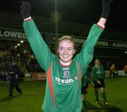 2 December 2006; Aoife Herbert, Mayo League, celebrates victory. Women's FAI Senior Cup Final, UCD v Mayo League, Richmond Park, Dublin. Picture credit: Damien Eagers / SPORTSFILE