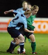 2 December 2006; Emma Mullin, Mayo League, in action against Nicola Sinnott, UCD. Women's FAI Senior Cup Final, UCD v Mayo League, Richmond Park, Dublin. Picture credit: Damien Eagers / SPORTSFILE