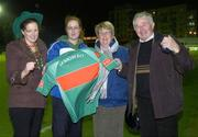2 December 2006; Maura and Martin Ruane with daughters Sarah, left, and Irene, from Foxford, show their support before the match. Women's FAI Senior Cup Final, UCD v Mayo League, Richmond Park, Dublin. Picture credit: Damien Eagers / SPORTSFILE