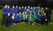 2 December 2006; The Mayo League squad and management celebrate with the cup. Women's FAI Senior Cup Final, UCD v Mayo League, Richmond Park, Dublin. Picture credit: Damien Eagers / SPORTSFILE
